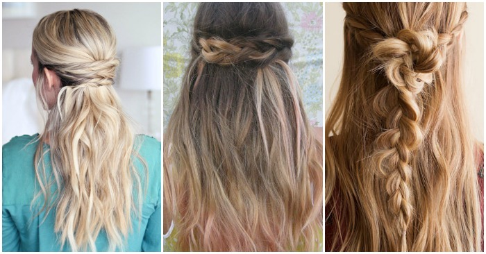 15 Simple Hairstyles that are Half Up