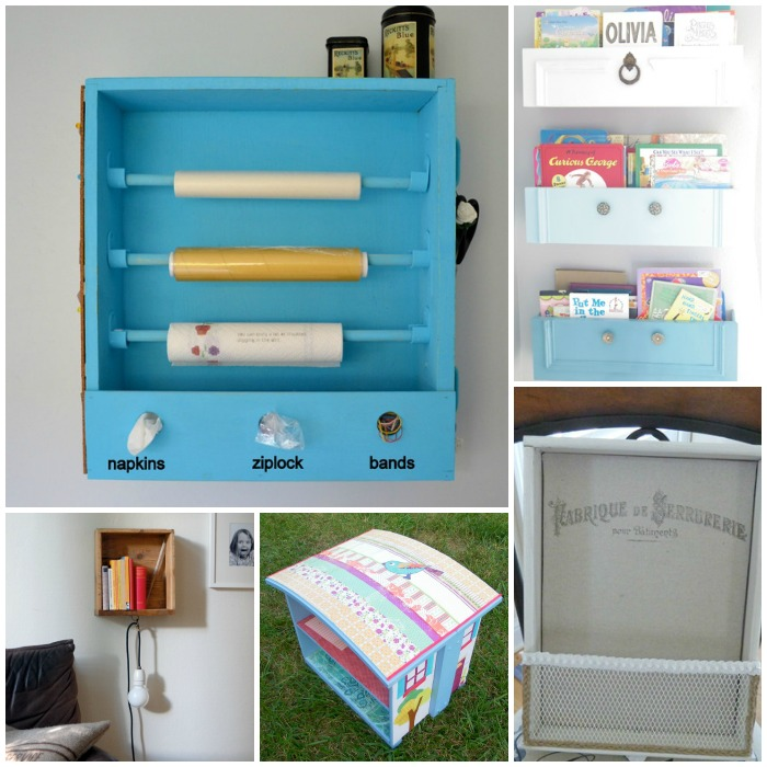 ways to reuse old drawers
