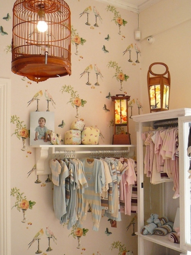 15 totally genius ways to organize baby clothes for Ways to hang hats on wall