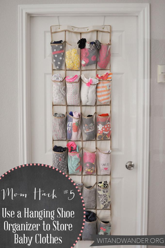 closet space organization ideas - 15 Totally Genius Ways to Organize Baby Clothes