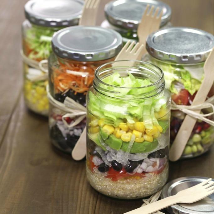 salad in a jar recipe ideas
