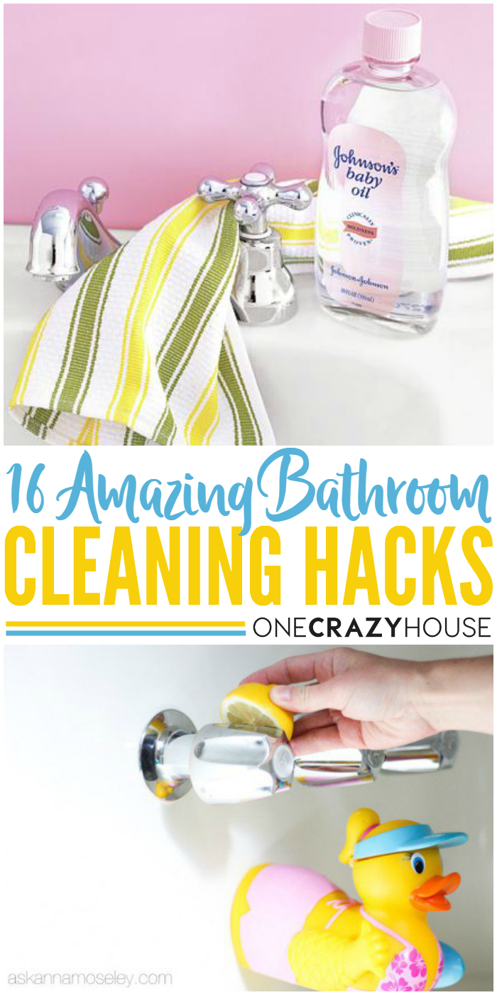 16 amazing bathroom cleaning hacks!