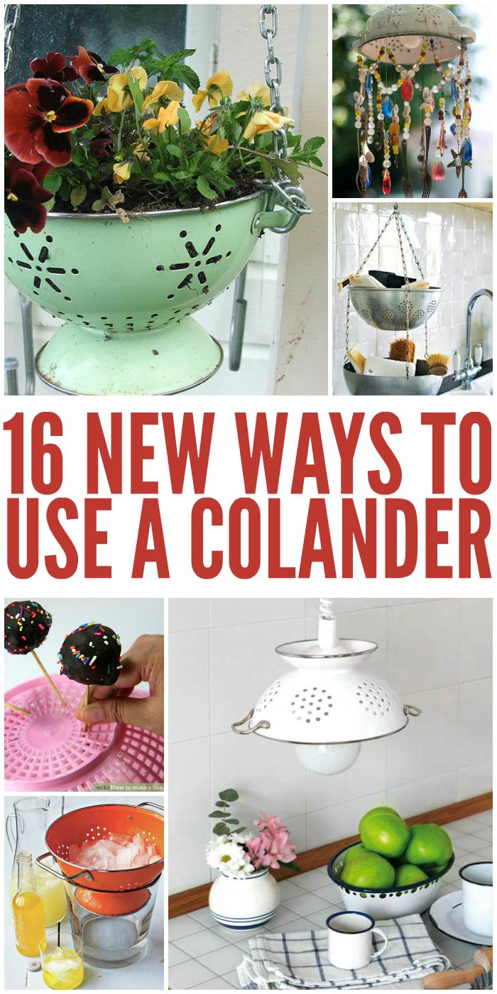 discover 16 new ways to use a colander. Black Bedroom Furniture Sets. Home Design Ideas