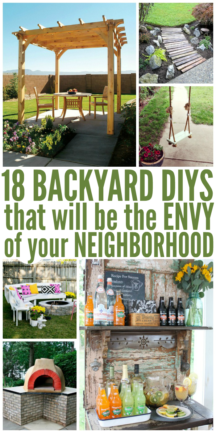 Make your backyard look just like the ones in those home-improvement shows with these beautiful and easy DIY ideas.