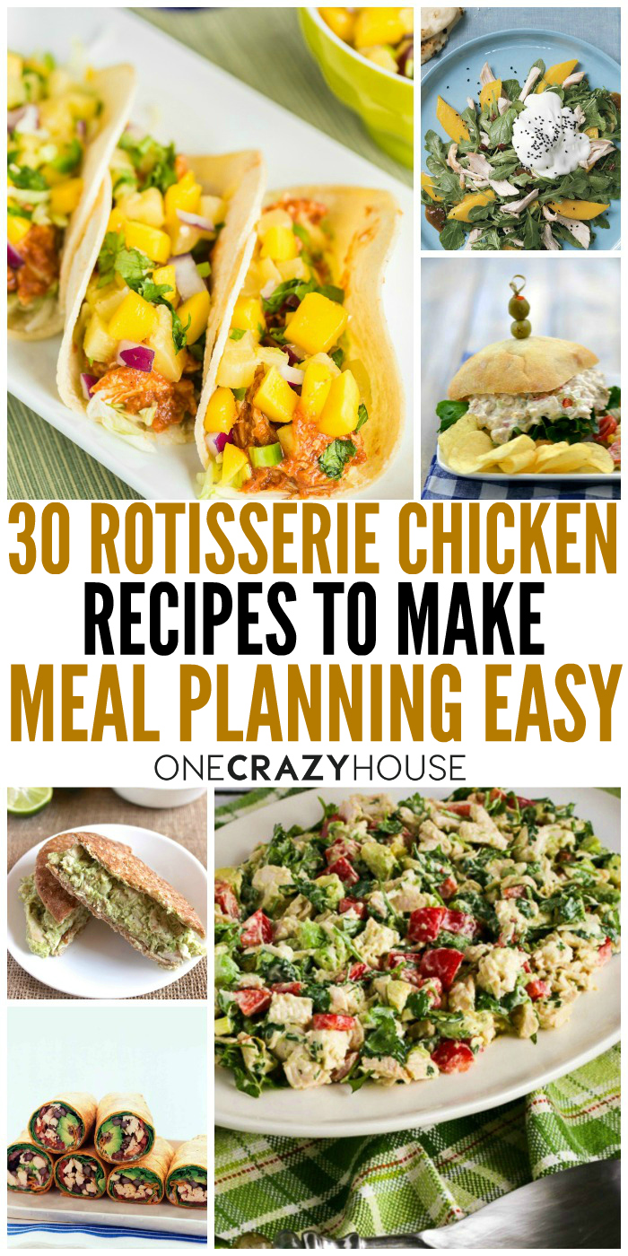 These rotisserie chicken recipes involve absolutely no cooking, so you can pull them together super fast.