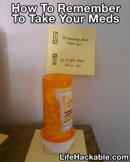 how to organize meds