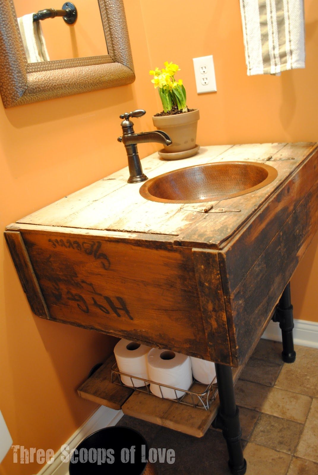 16 renovations under your sink that will wow Used bathroom vanity with sink