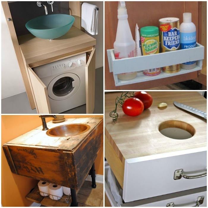 Kitchen Storage Under Sink Organizer: 16 Renovations Under Your Sink That Will Wow