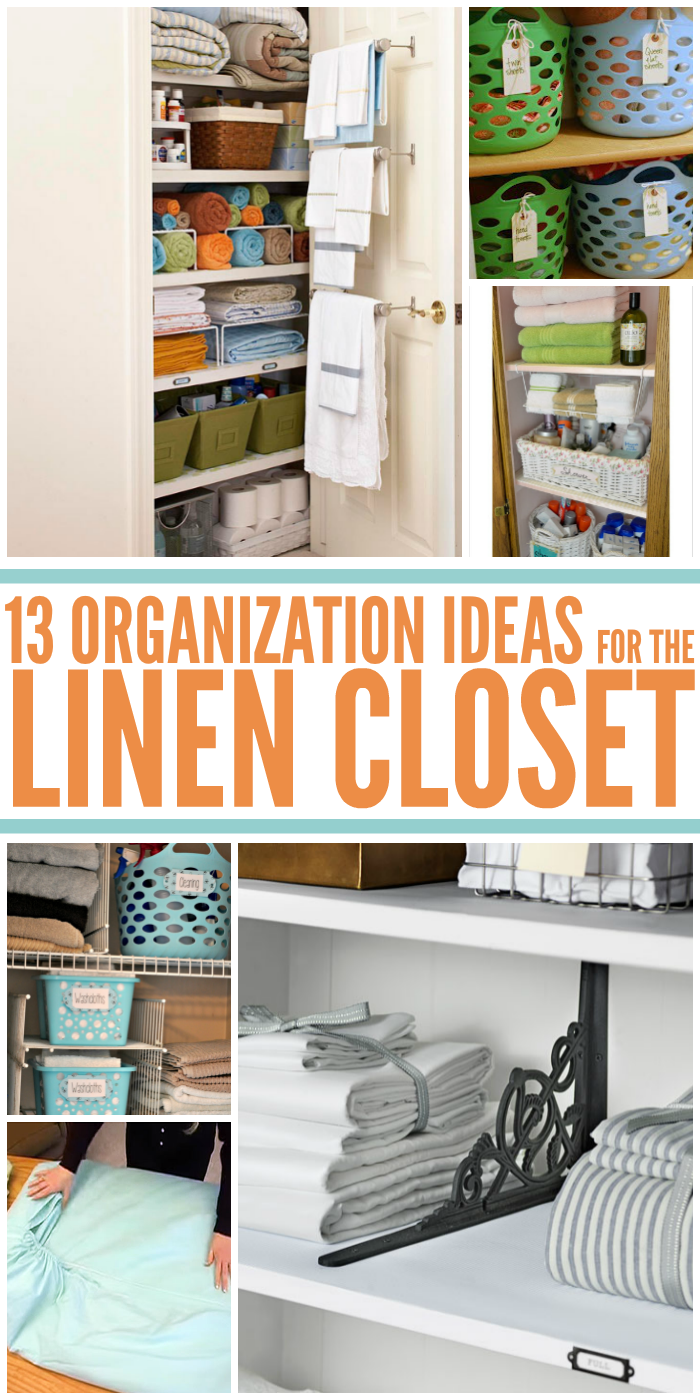 13 Linen Closet Organization Ideas You Need to Implement ASAP - open closet with organized shelves