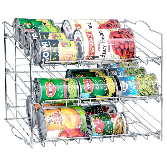can holder for a pantry