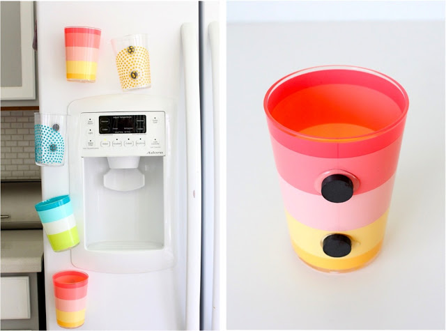 magnetic cups fridge hack