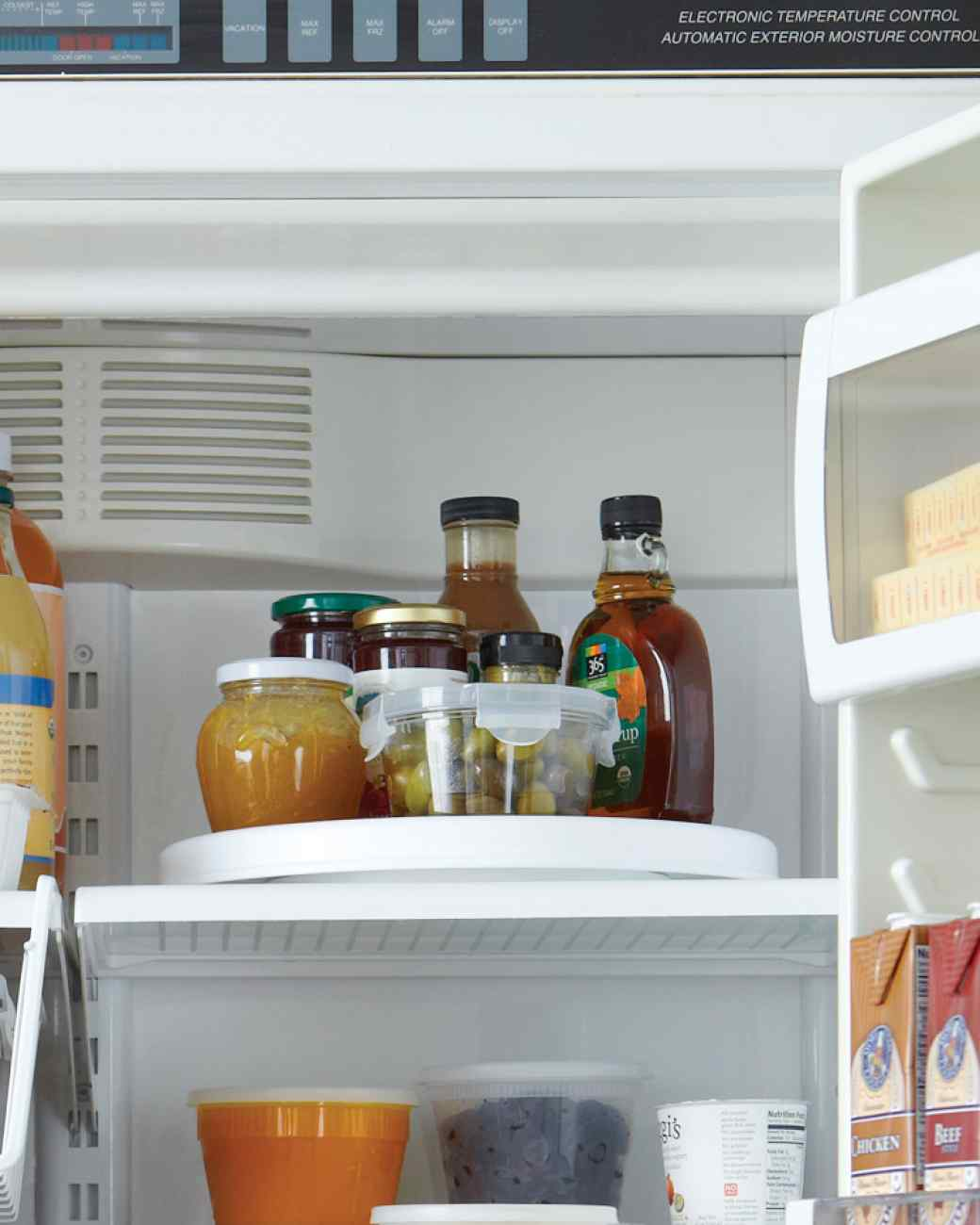 lazy susan fridge hack