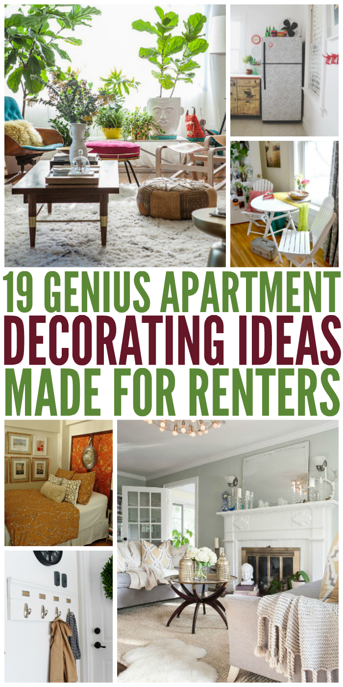 19 genius apartment decorating ideas made for renters for Apartment decoration photos