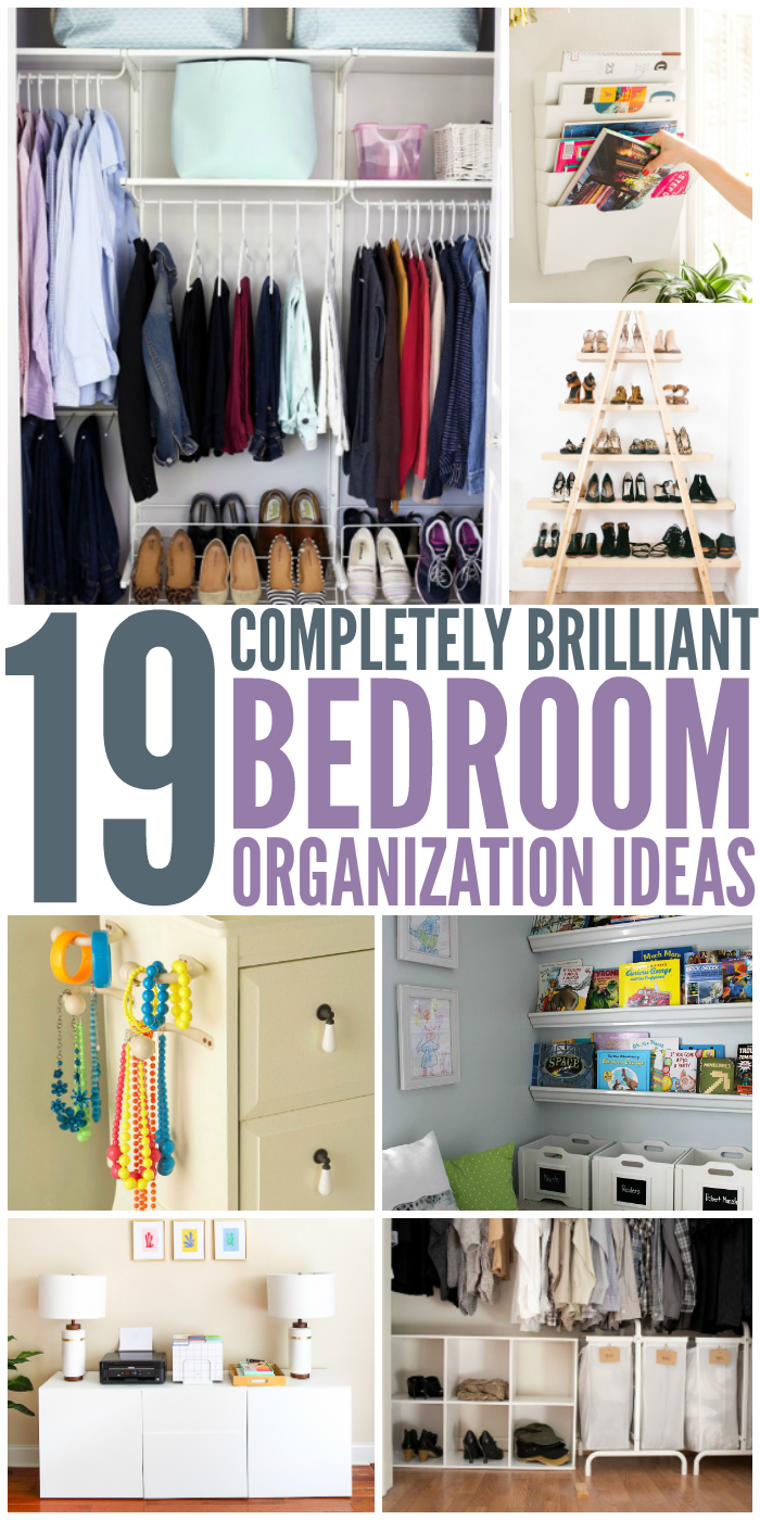 19 bedroom organization ideas for How to organize a small room