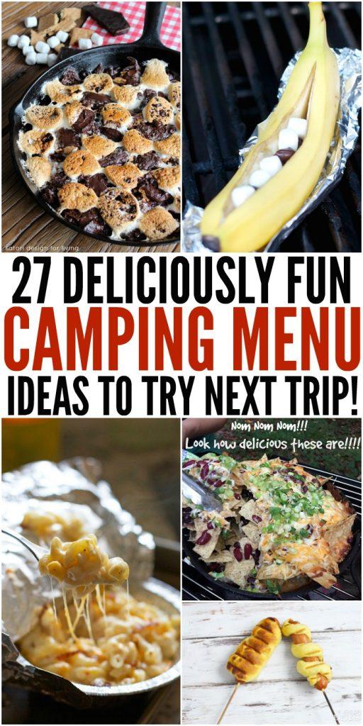 27 Deliciously Fun Camping Menu Ideas