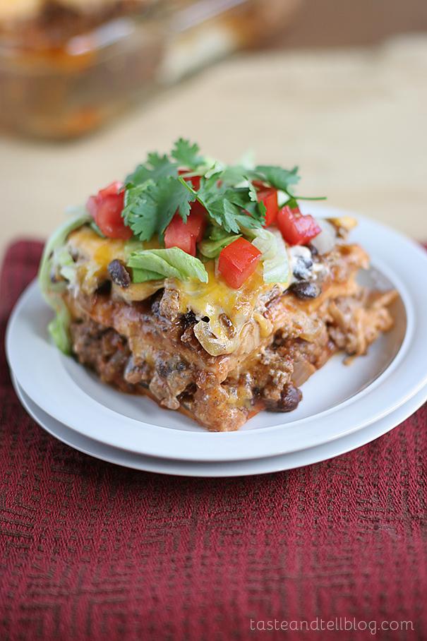 Freezer Meals-11-Enchilada Casserole