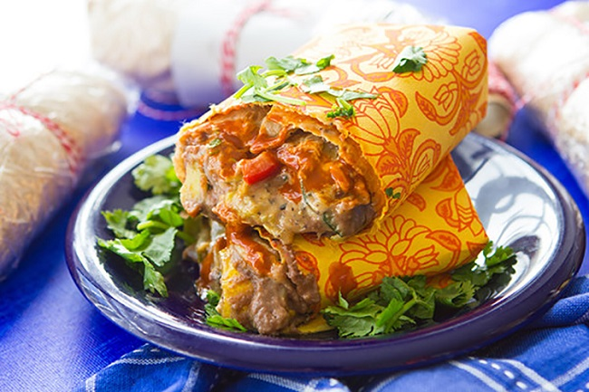 Freezer Meals-15-Roasted Veggie Burrito