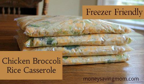 Freezer Meals-4-Cheesy Chicken Rice