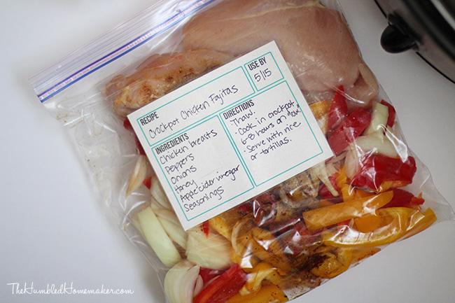 Freezer Meals-6-Chicken Fajitas
