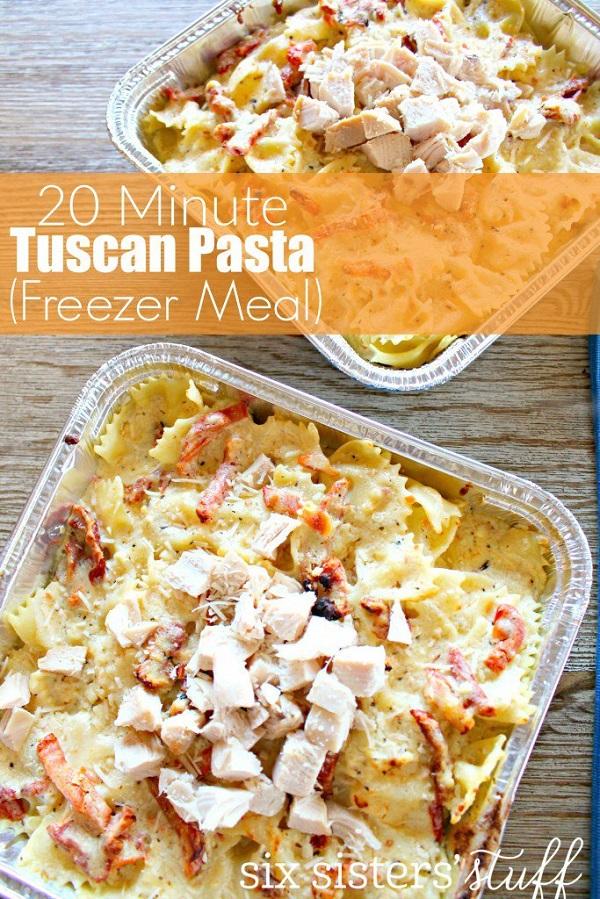 Freezer Meals-9-Tuscan Pasta