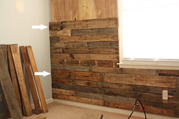 Got pallets these 17 diy pallet ideas are clever - Wooden pallet accent wall ...