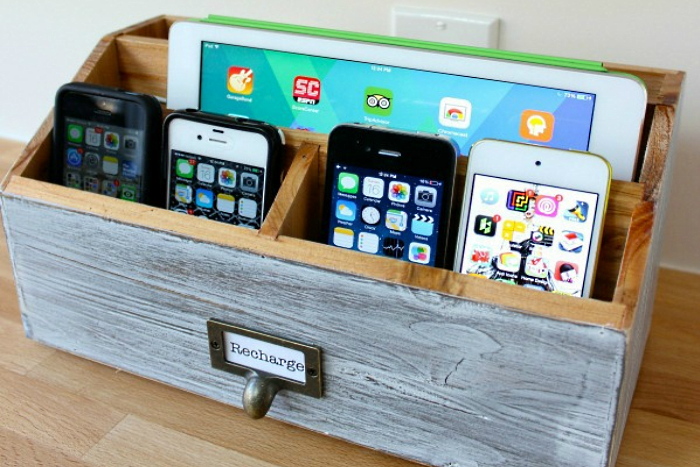 how to make a family phone charging station