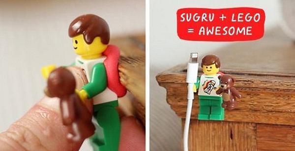 lego phone cord holder