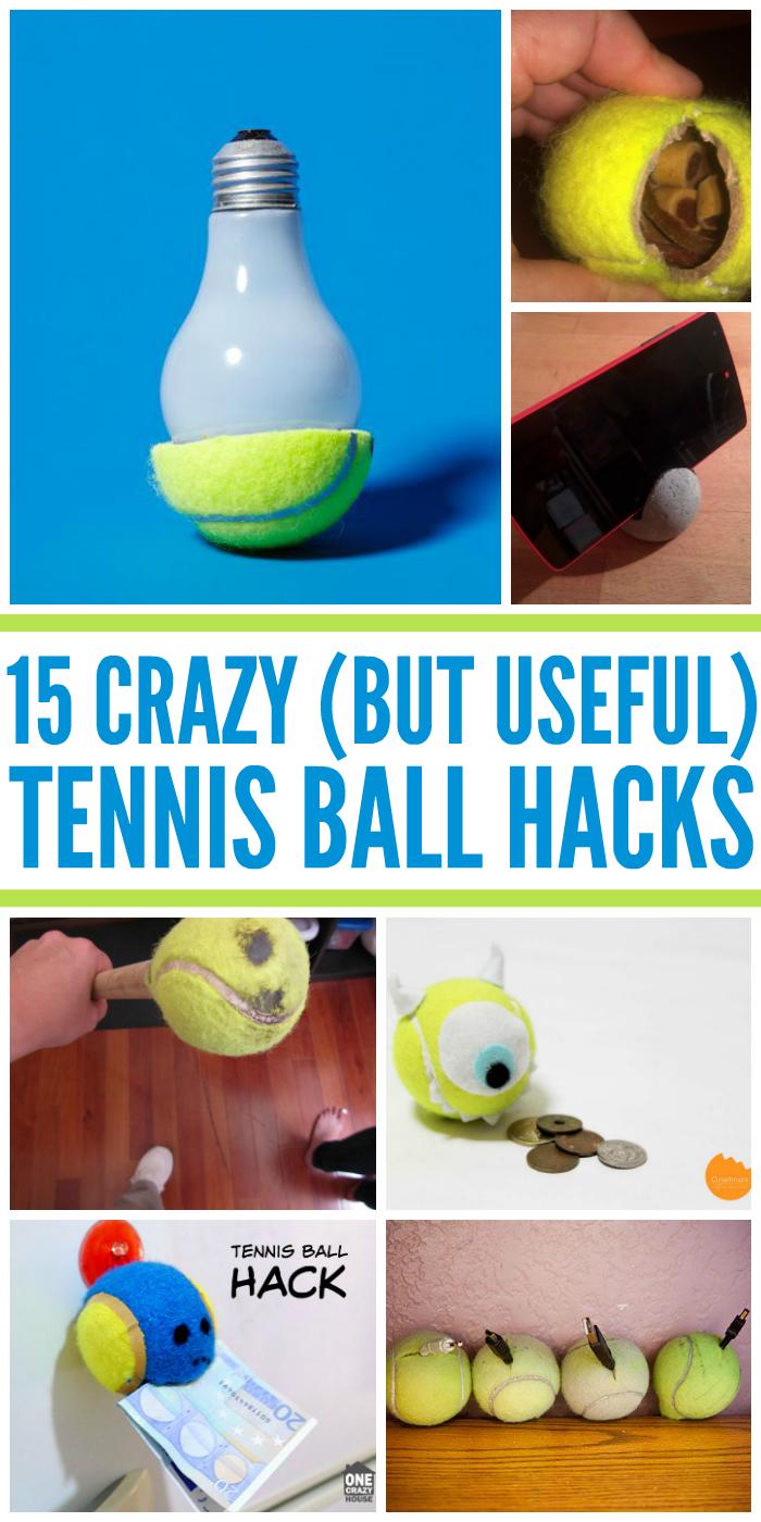 15 Crazy But Useful Tennis Ball Hacks