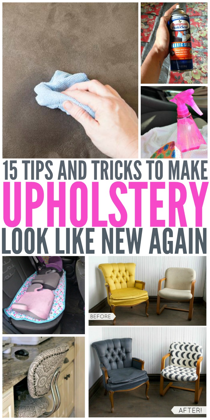 Make your upholstery look like new with these great diy tips, tricks, and ideas!