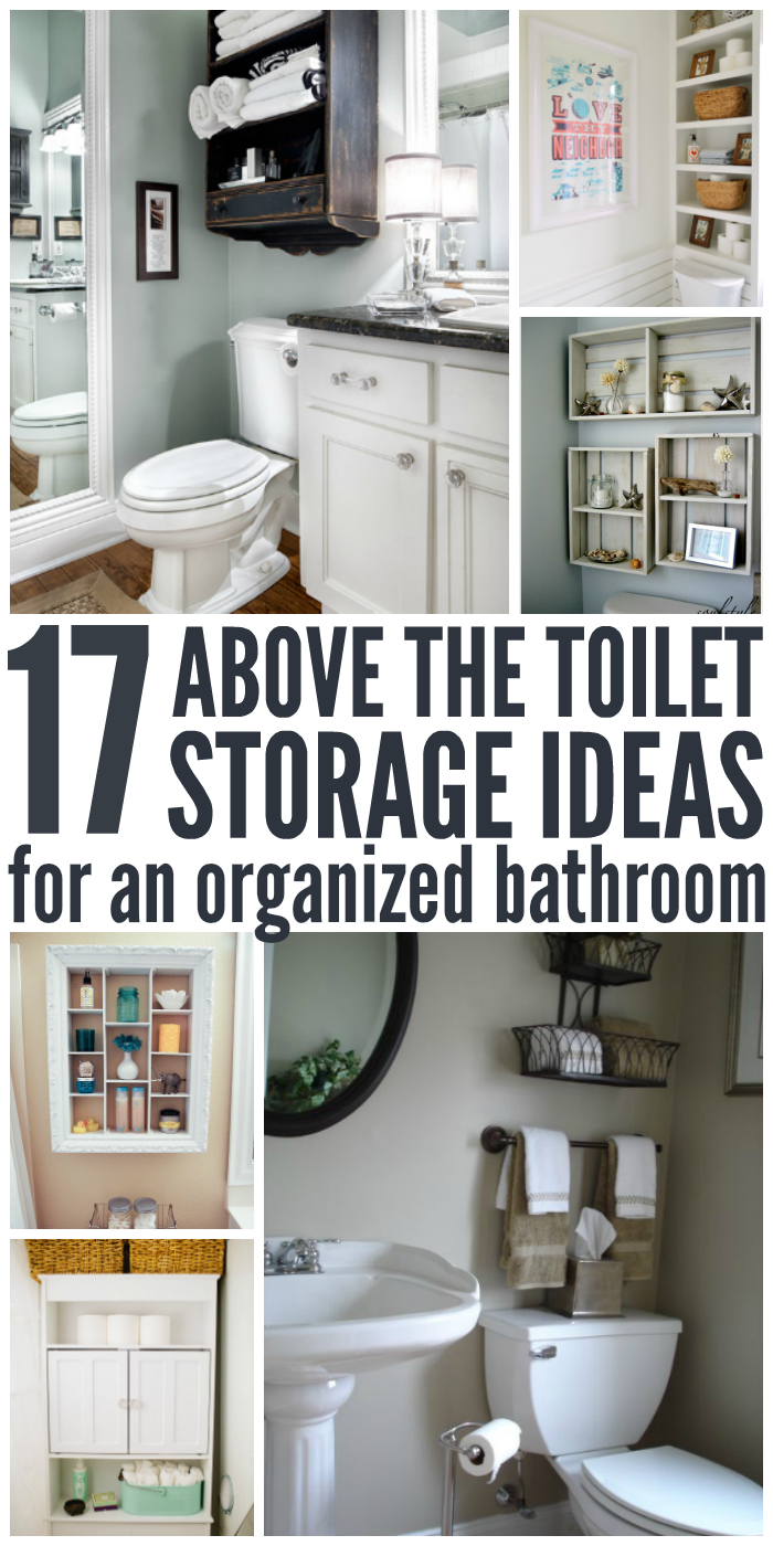 Not sure how to maximize the space? Here are 17 smart and beautiful over the toilet storage ideas to organize and dress up your bathroom.