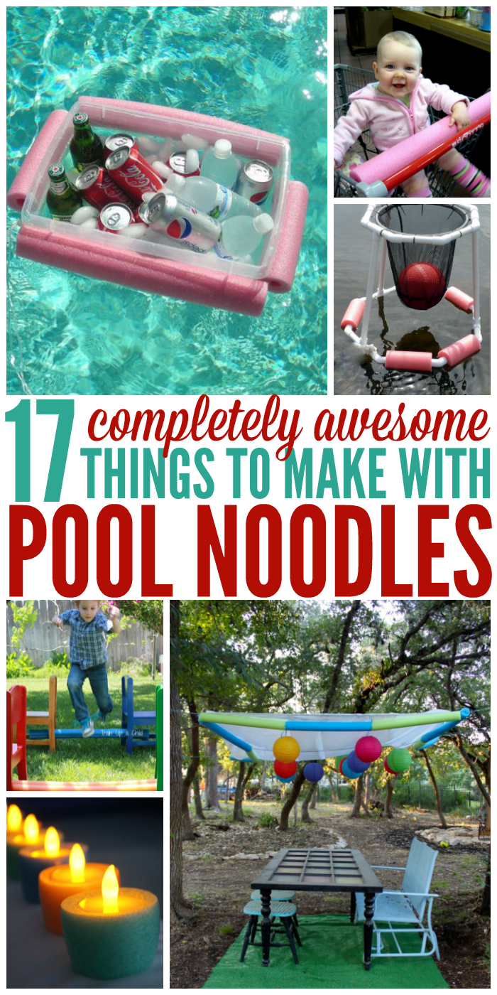 Summer is not complete without lots of pool noodles. As it turns out, they're great for much more. Check out all the creative uses for pool noodles!