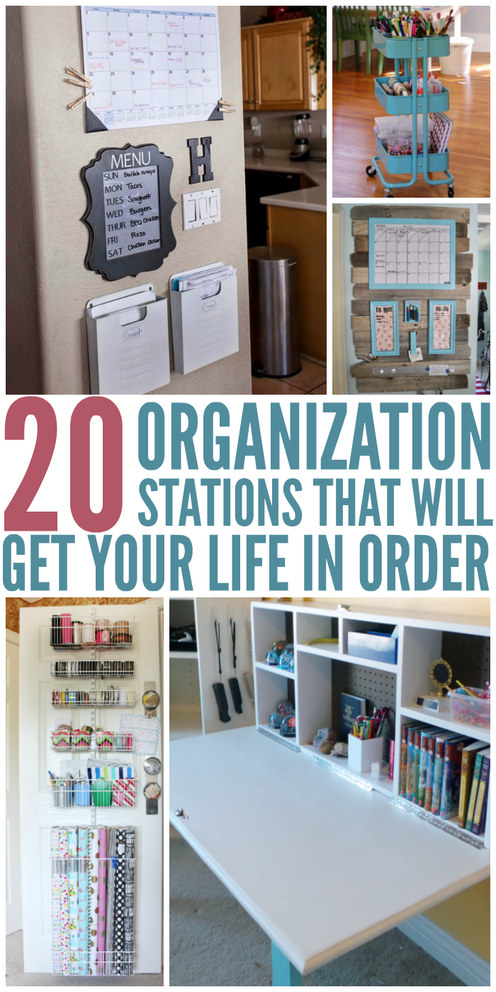 20 Organization Stations That Will Get Your Life in Order