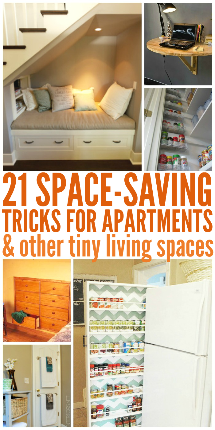 Check out these 21 space saving tricks & small room ideas to get you inspired