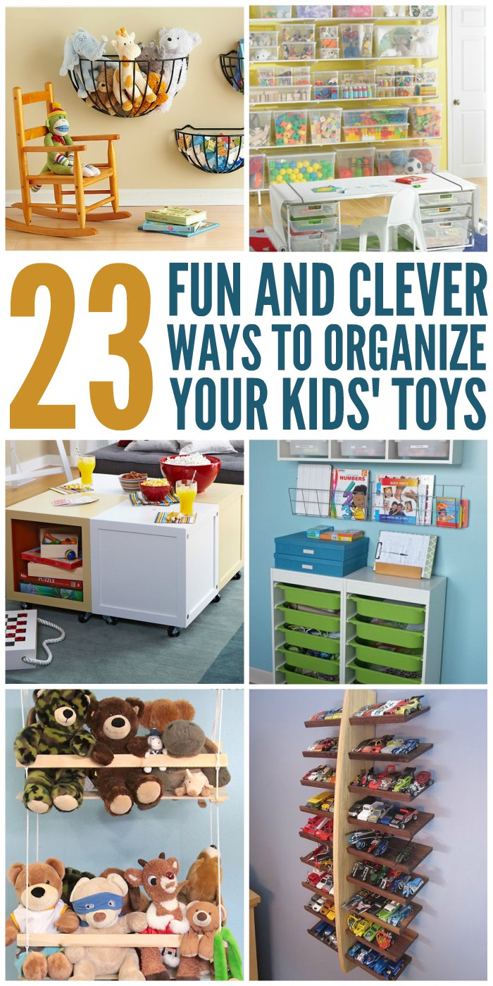 23 fun and clever ways to organize toys. Black Bedroom Furniture Sets. Home Design Ideas