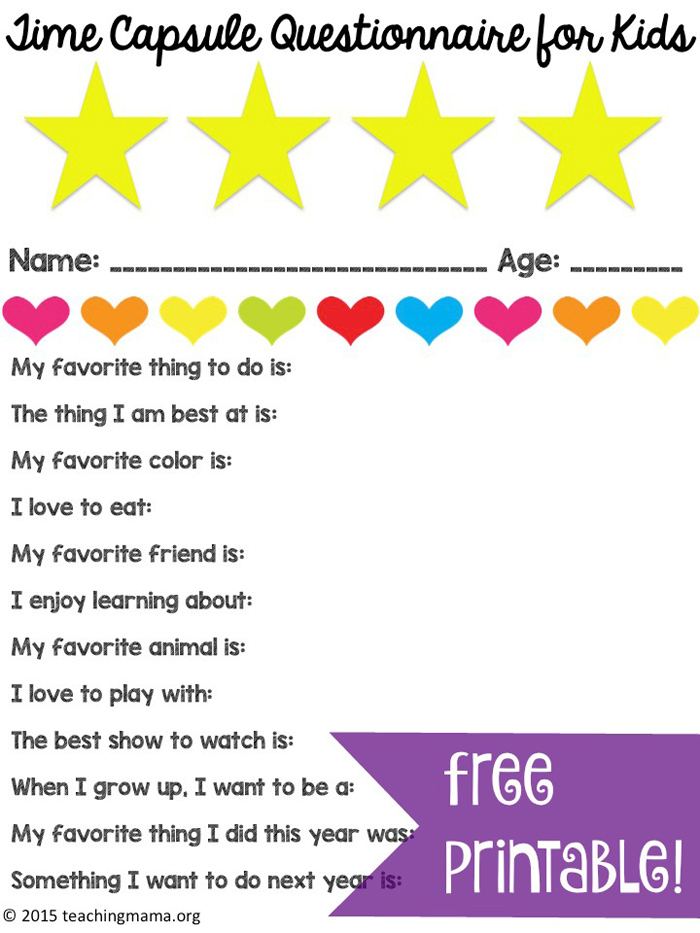 http://teachingmama.org/time-capsule-questionnaire-for-kids/