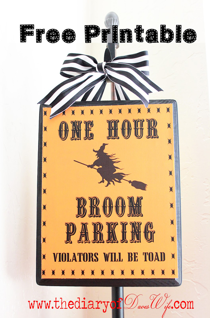 One Hour Broom Parking: Violators will be Toad