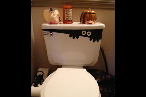 Peek-a-Boo toilet decoration