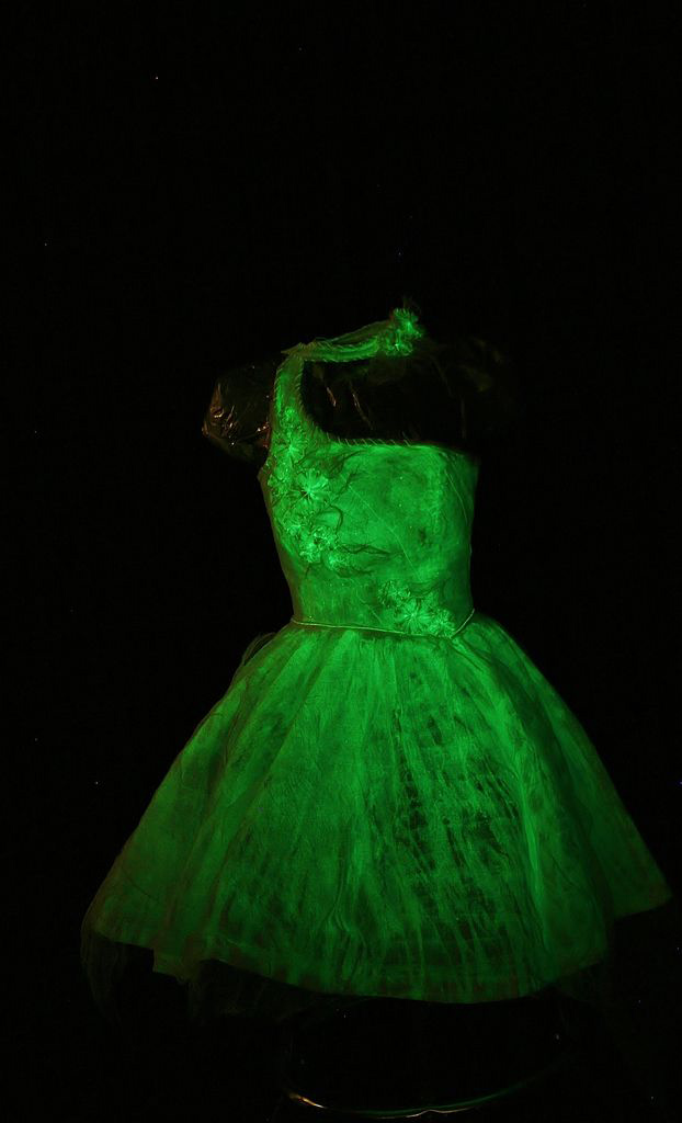 glow-painted dress