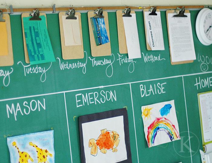 Chalkboard Back to School Center