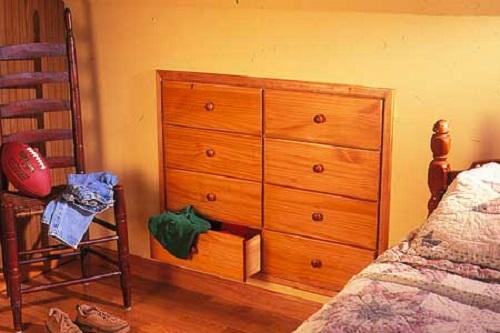 21 space saving tricks small room ideas for Bedroom bureau knobs