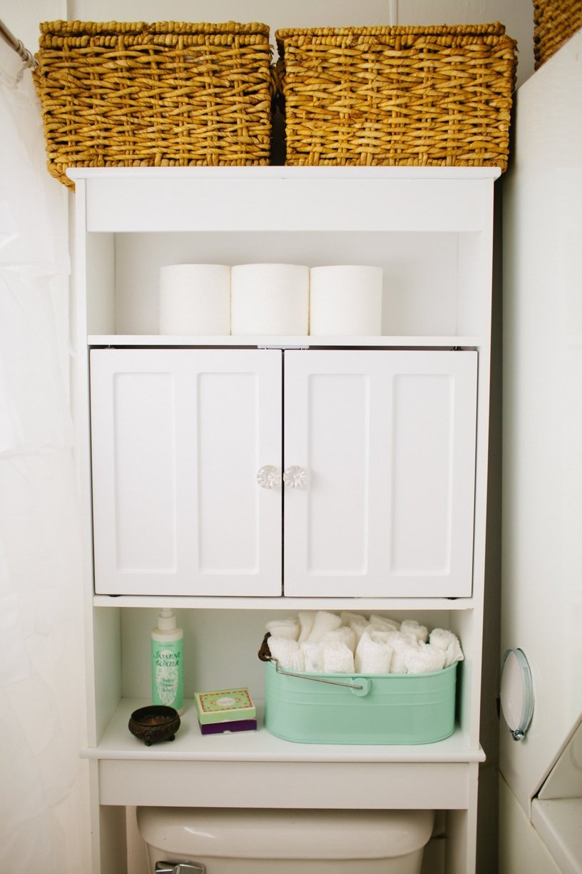 Perfect Finding Storage In A Tiny Bathroom Can Seem Impossible Dont Despair Though, There Are Many Creative Storage Ideas  The Toilet Can Be A Great Space For Additional Storage The Very First Thing I Did In My First House Was To Install An Over