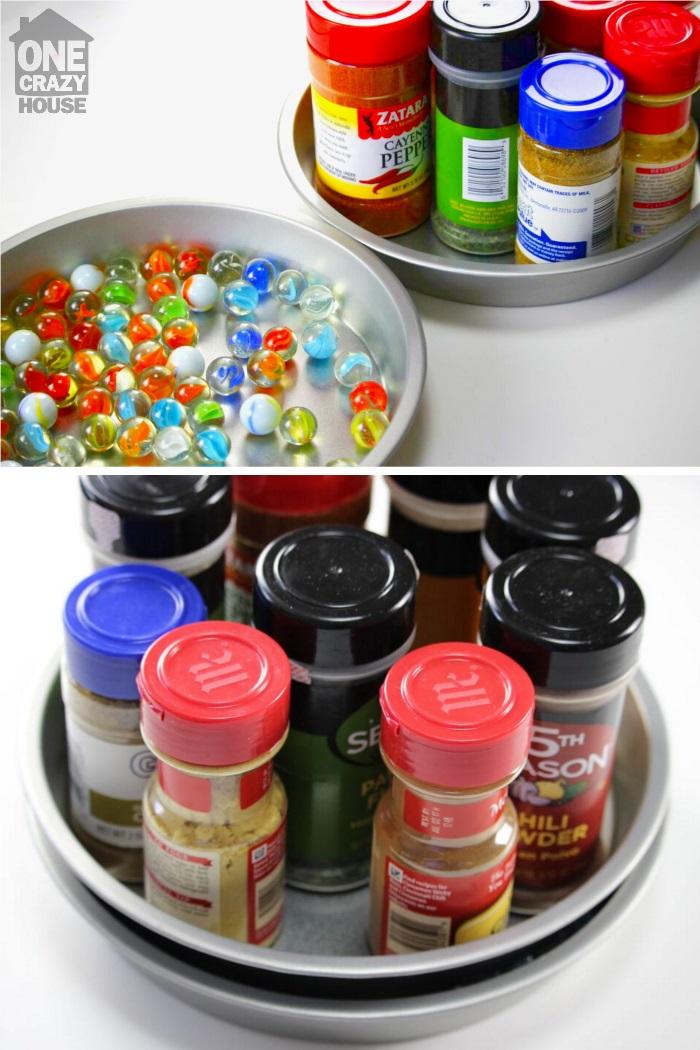 Organize with a lazy susan