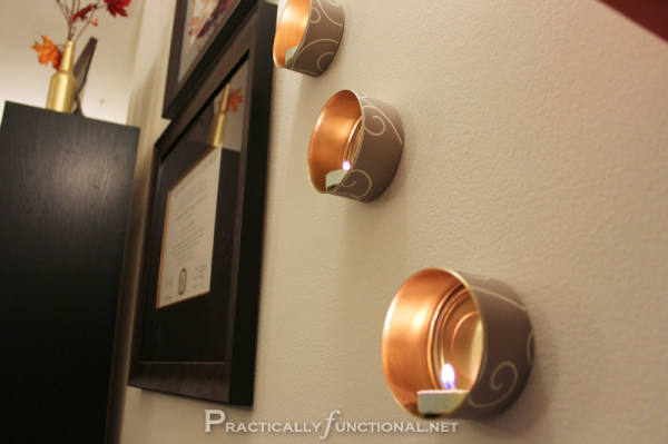 Wall Mounted Candle Lights : 19 Unbelievable Ways to Upcycle a Tin Can