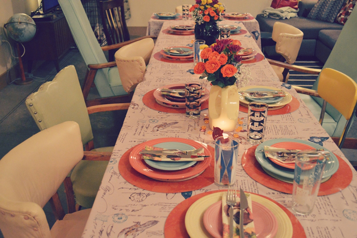 mistmatched place settings