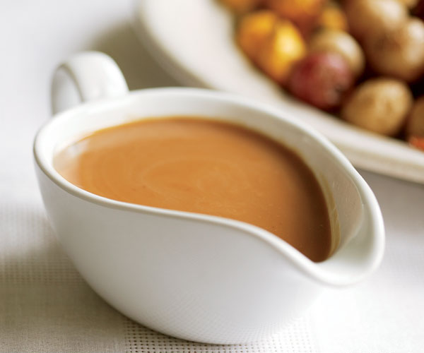 gravy boat filled with make-ahead gravy