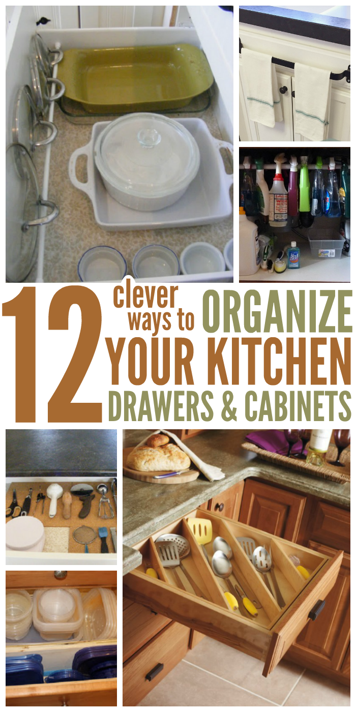 How to organize your kitchen with 12 clever ideas for Kitchen drawers and cupboards