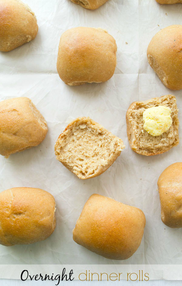 dinner rolls with butter