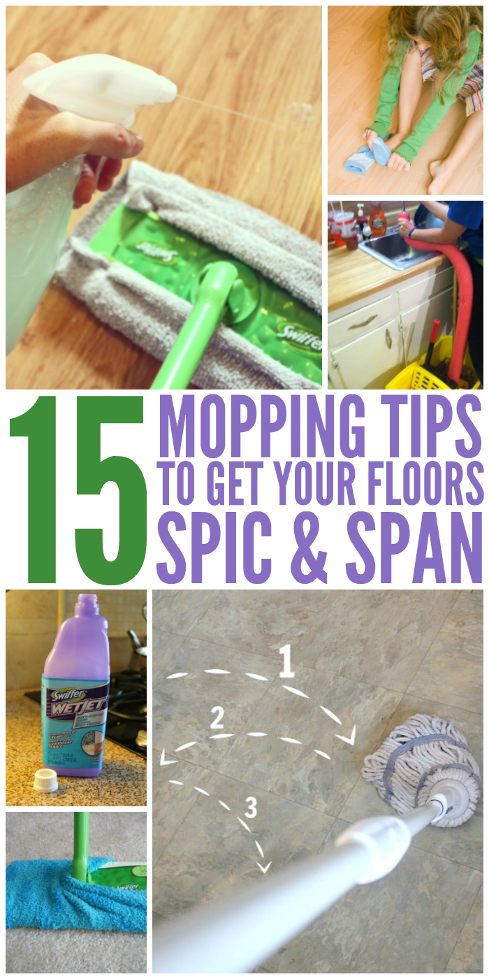 15 Mopping Tips to Get Your Floors Spic and Span