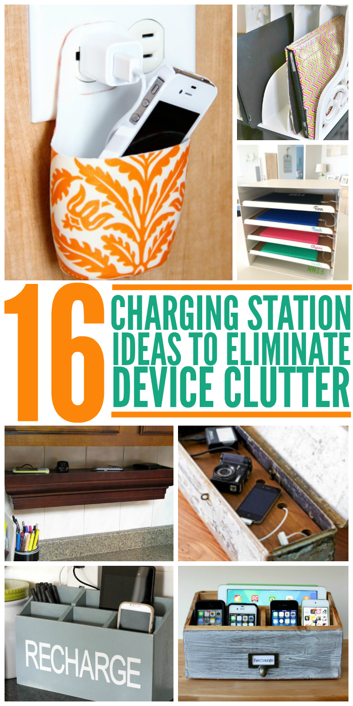 16 Charging Station Ideas to Eliminate Device Clutter