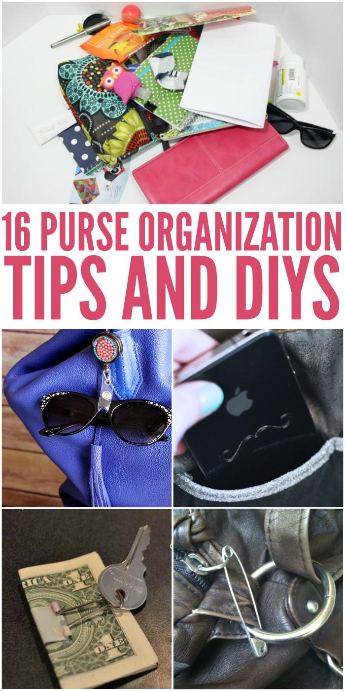 16 Purse Organization Tips and DIYs
